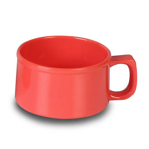 Thunder Group CR9016RD 10 Oz 4 Inch Western Orange Melamine Soup Mug, DZ