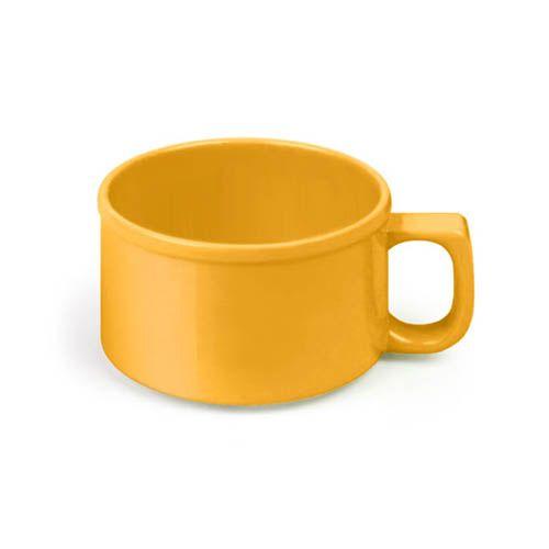 Thunder Group CR9016YW 10 Oz 4 Inch Western Yellow Melamine Soup Mug, DZ
