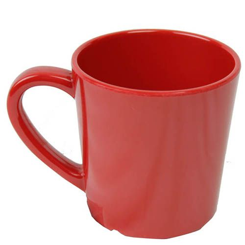 Thunder Group CR9018PR 7 Oz 3 1/8 Inch Western Red Melamine Mug, DZ
