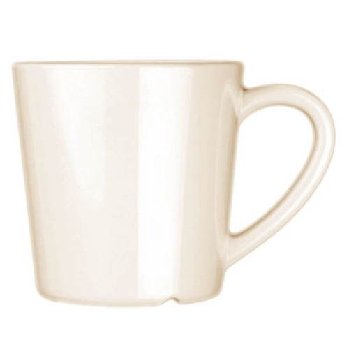 Thunder Group CR9018W 7 Oz 3 1/8 Inch Western White Melamine Mug, DZ