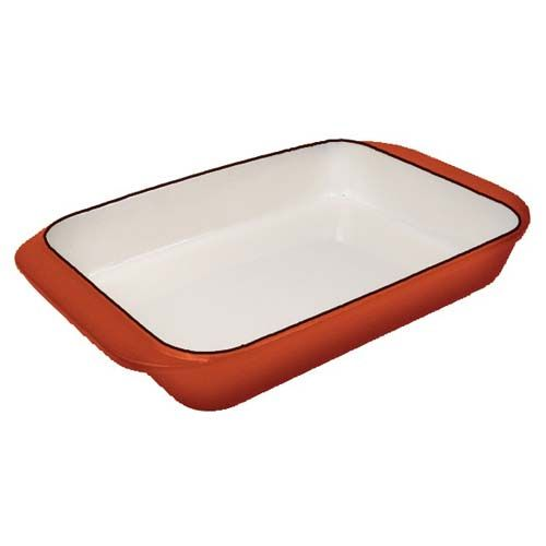 Winco CST-12OR, 12.5-Inch Casserole Rectangle Dishes, Orange Gloss