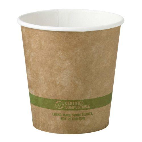 World Centric CU-PA-10-K 3.5x3.6-Inch 10 Oz Kraft Paper Compostable Hot Cup, 1000/CS