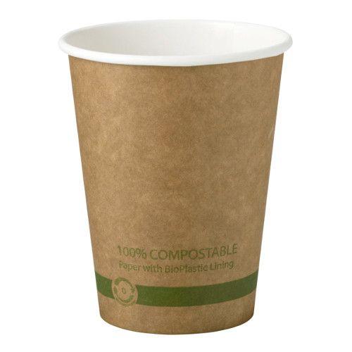 World Centric CU-PA-12-K 3.5x4.3-Inch 12 Oz Kraft Paper Compostable Hot Cup, 1000/CS