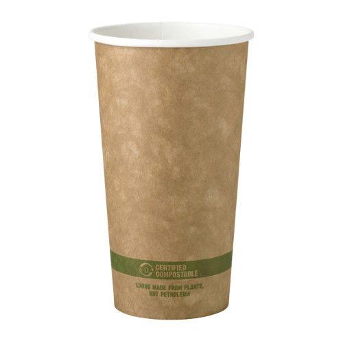 World Centric CU-PA-20-K 3.5x5.5-Inch 20 Oz Kraft Paper Compostable Hot Cup, 1000/CS