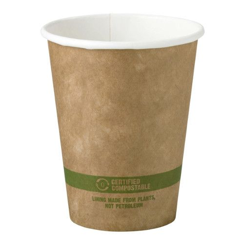 World Centric CU-PA-8-K 3.15x3.6-Inch 8 Oz Kraft Paper Compostable Hot Cup, 1000/CS