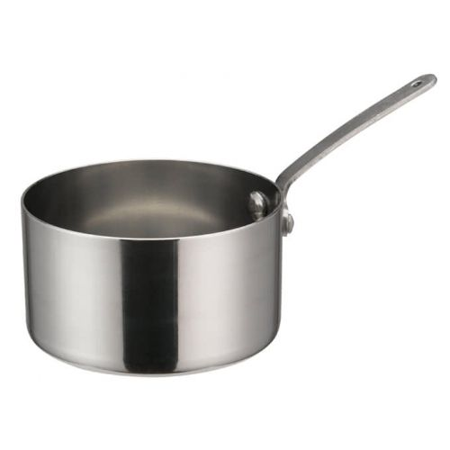 Winco DCWA-104S, 3-1/2-Inch Dia Stainless Steel Mini Sauce Pan with Long Handle
