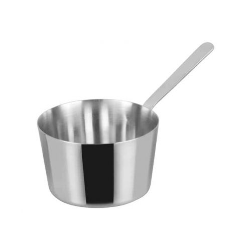 Winco DCWB-102S, 3-3/8-Inch Dia Stainless Steel Mini Taper Sauce Pan with Long Handle