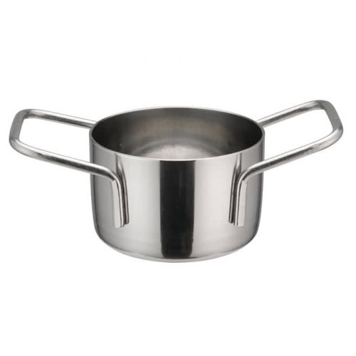 Winco DCWE-101S, 2-3/4-Inch Dia Stainless Steel Mini Casserole Pot, 2 Handles