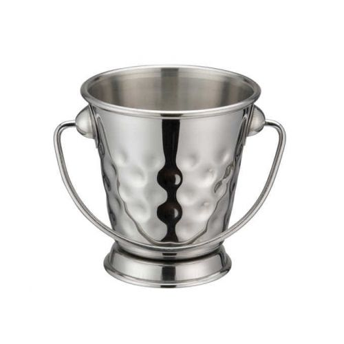 Winco DDSA-101S, 3-Inch Dia Stainless Steel Mini Serving Pail with Handle, Hammered