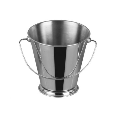 Winco DDSA-107S, 5-Inch Dia Stainless Steel Mini Serving Pail with Handle