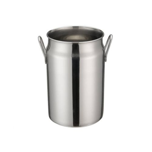 Winco DDSD-104S, 5-Inch Dia Stainless Steel Mini Milk Can, 2 Handles