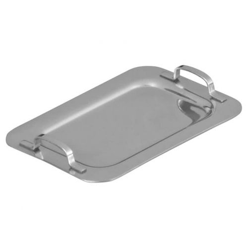 Winco DDSH-101S 6 5/8 x 4 1/4 Inch Stainless Steel Mini Serving Platter with 2 Handles