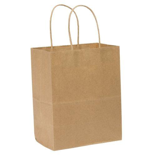 SafePro 10712, 10x7x12-Inch Kraft Paper Shopping Bag with Handles, 250/CS
