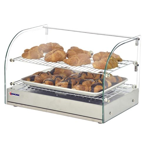 Omcan DW-CN-0045-L Countertop Display Warmer with Front Curved Glass, EA
