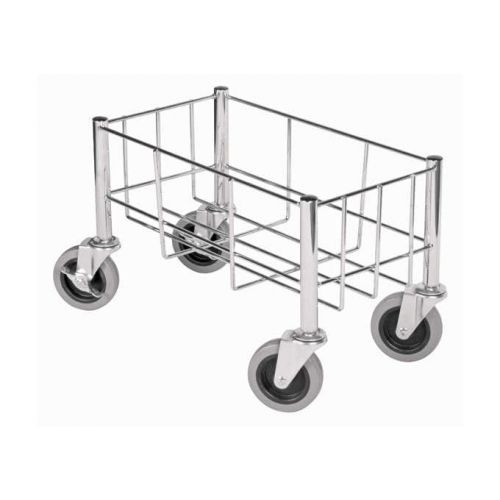Winco DWR-1708, 18х9-Inch Stainless Steel Wire Trash Can Cart