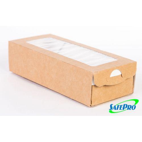 SafePro ECOCASE500 Kraft Pastry-Bakery Box with Inset, 400/CS