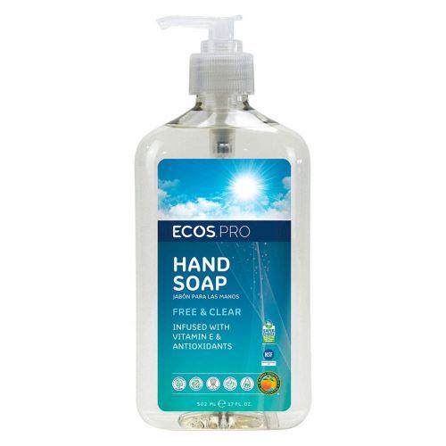 EcosPro PL9663/6-X, 12.5 Oz Hand Soap, Free & Clear, w/Pump, EA