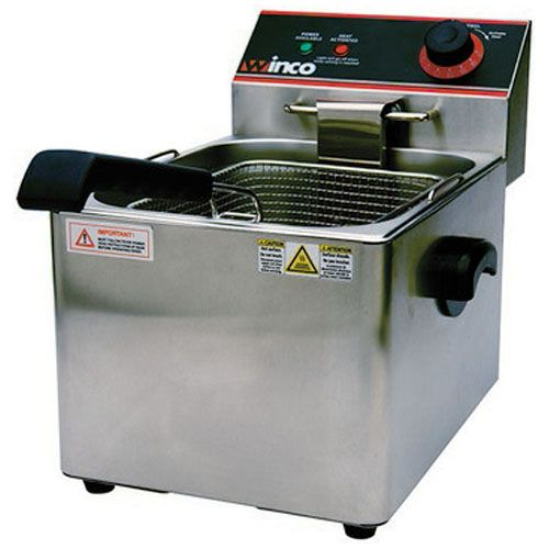 Winco EFS-16, 16-Lbs Countertop Single Well Electric Fryer