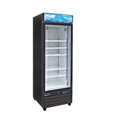 Entrée EGD-1DR-23, 23 Cu.Ft. 1 Glass Door Refrigerator with 4 Shelves, NSF-7, UL-471, CUL, Energy Star