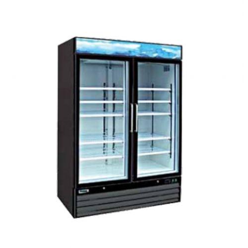 Entrée EGD-2DR-47, 47 Cu.Ft. 2 Glass Doors Refrigerator with 8 Shelves, NSF-7, UL-471, CUL, Energy Star