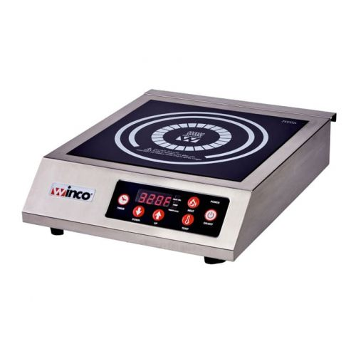 Winco EIC-400C German Schott Commercial Electric Induction Cooker with 20 Amp Power Cord, 1800W, EA (Discontinued)