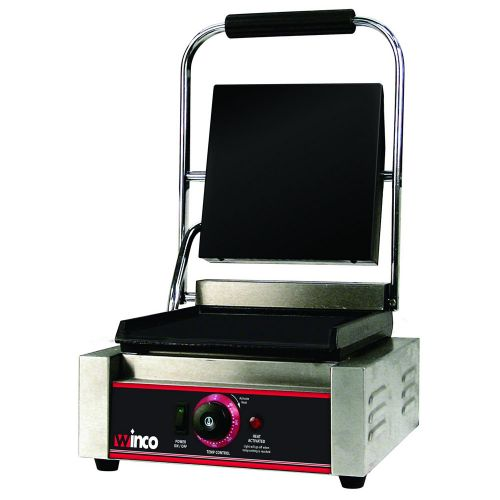 Winco ESG-1, Electric Sandwich Grill with Single 14-Inch Flat Plate