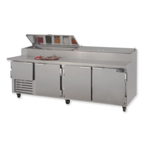 Leader ESPT96, 96x36x43-Inch Refrigerated Pizza Preparation Table, Stainless Steel Top, EA