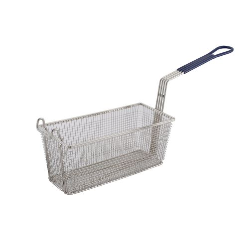 Winco FB-20, 13.25x5.6x.5.9-Inch Fry Basket with Blue Handle