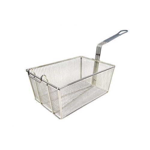 Wincо FB-35, 13-1/4-Inch Stainless Steel Fry Basket, Coated Handle, Green, NSF