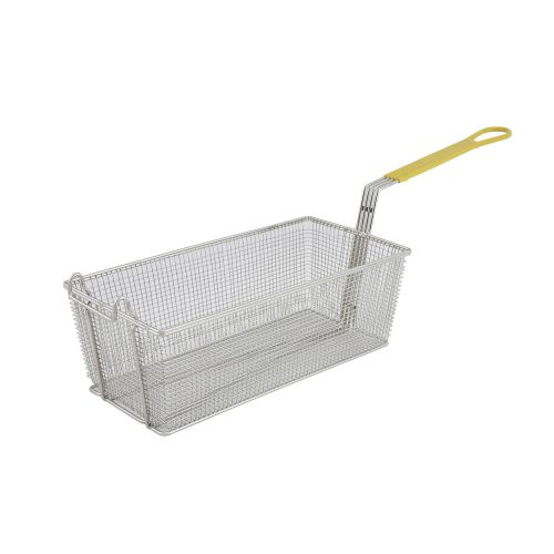 Winco FB-40, 17x8x6-Inch Fry Basket with Yellow Handle