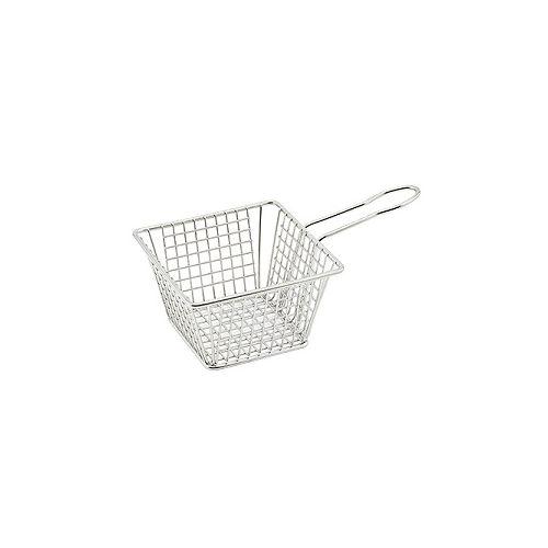 Winco FBM-554S, 5x5x4-Inch Square Mini Fry Basket