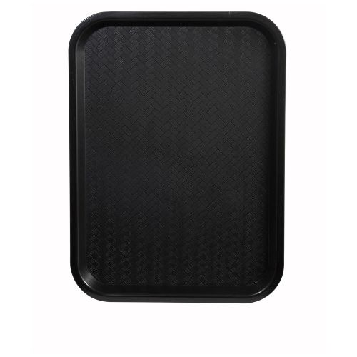 Winco FFT-1014K, 10x14-Inch Black Plastic Fast Food Tray
