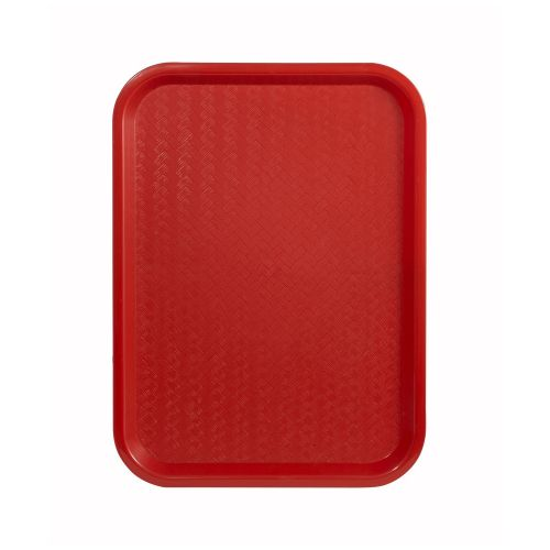 Winco FFT-1014R, 10x14-Inch Red Plastic Fast Food Tray