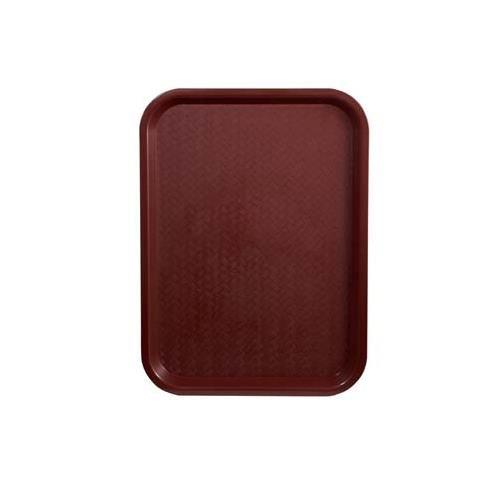 Winco FFT-1014U, 10x14-Inch Burgundy Plastic Fast Food Tray
