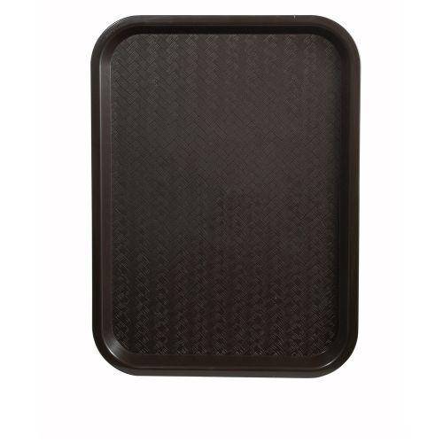 Winco FFT-1216B, 12x16-Inch Brown Plastic Fast Food Tray