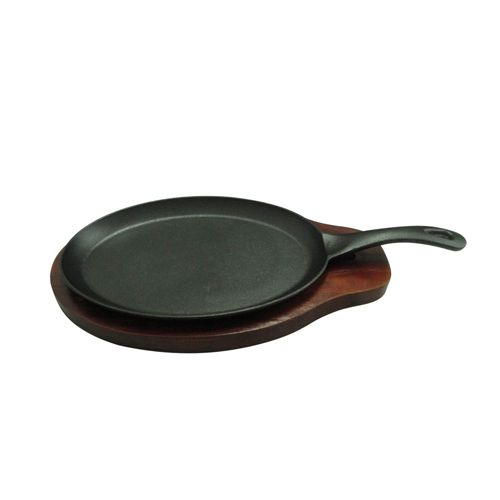 Winco FS-2, 2-Piece Cast Iron Fajita Server Set