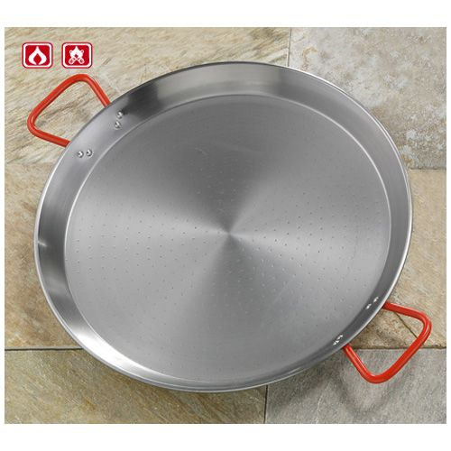 Garcima G10036 14 inches/36cm PAELLA Polished Steel Pan