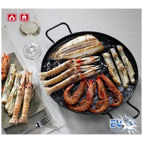 Garcima G11046 18 inches/46 cm PLANCHA Flat Enamelled Grill