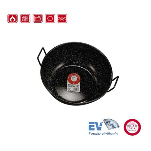 Garcima G20320 8 inches/20 cm ESMALTADA Deep Enamelled Two Handles Pan