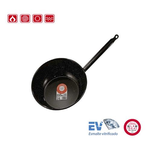 Garcima G20420 8 inches/20 cm ESMALTADA Deep Enamelled Pan One Handle