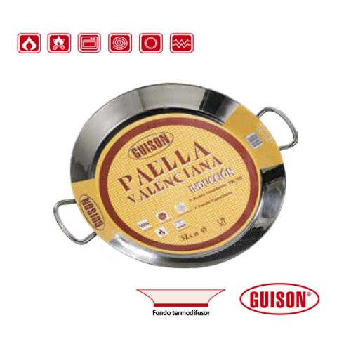 Garcima G74036 14 inches/36 cm PAELLA VALENCIANA Stainless Steel Pan