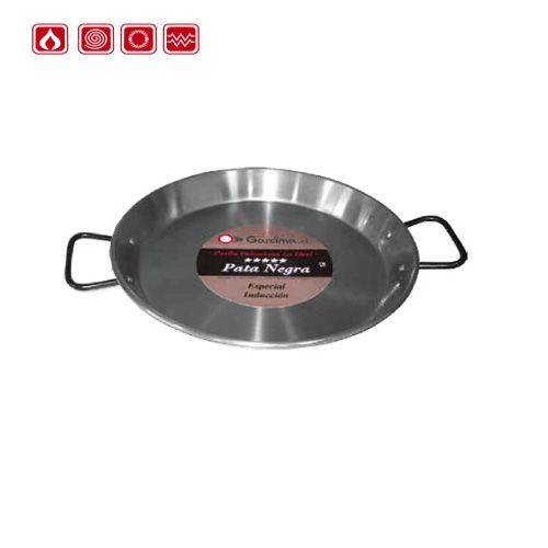 Garcima G85130 12 inches/30 cm Paella PATA NEGRA Polished Induction Pan