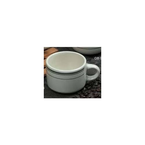 Yanco Gb 23 7 Oz 3x2 5 Inch Porcelain Green Band Stackable Cup 36 Cs Mcdonald Paper Restaurant Supplies