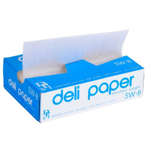 Durable Inc GC8BIO, 8x10.75-Inch Natural Dry Wax Deli Paper, 12x500-Piece Pack