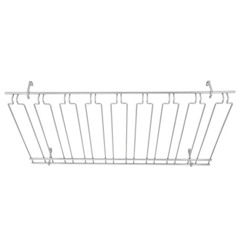 Winco GHC-1836, 18x36x4-Inch Overhead Glass Rack, Chrome Plated