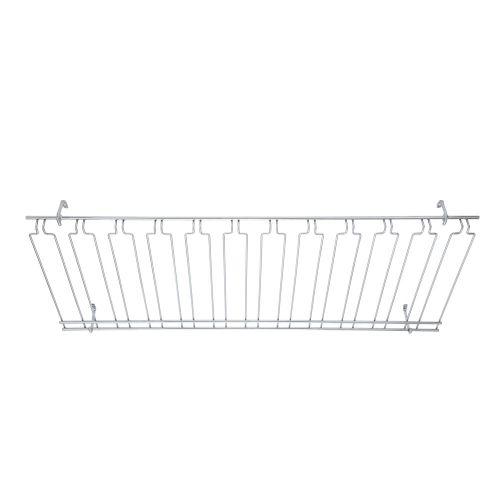 Winco GHC-1848, 18x48x4-Inch, Overhead Glass Rack, Chrome Plated
