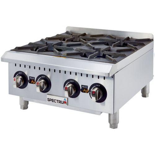 Winco NGHP-4, 24-Inch 4-Burner Spectrum Gas Hot Plate, NSF-4, ETL, cETLus