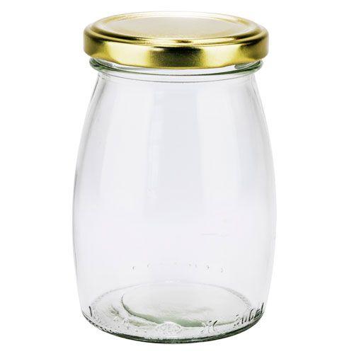 GJ10, 0.3L / 10 Oz Glass Jar with Metal Screw Lid, EA