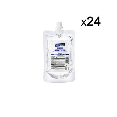 Germium GRP60 2 Oz Gel Hand Sanitizer Squeeze Pouch, 70% Alcohol, 24/CS