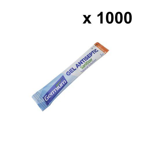 Germium GRS3000 3-Gram Single Use Stick, 70% Isopropyl Alcohol, 1000 Sticks/Pack